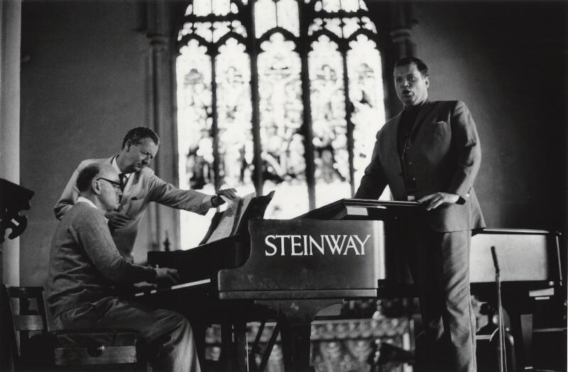 Benjamin Britten; Dietrich Fischer-Dieskau, by Michael Peto, June 1965 - NPG x138054 - © University of Dundee The Peto Collection