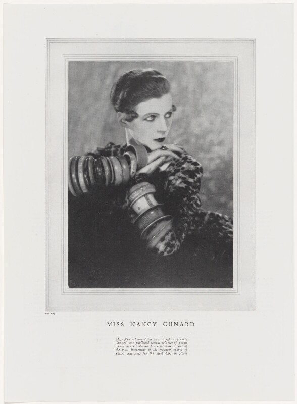 Nancy Cunard, by Man Ray, published October 1927 - NPG x138122 - © reserved; collection National Portrait Gallery, London