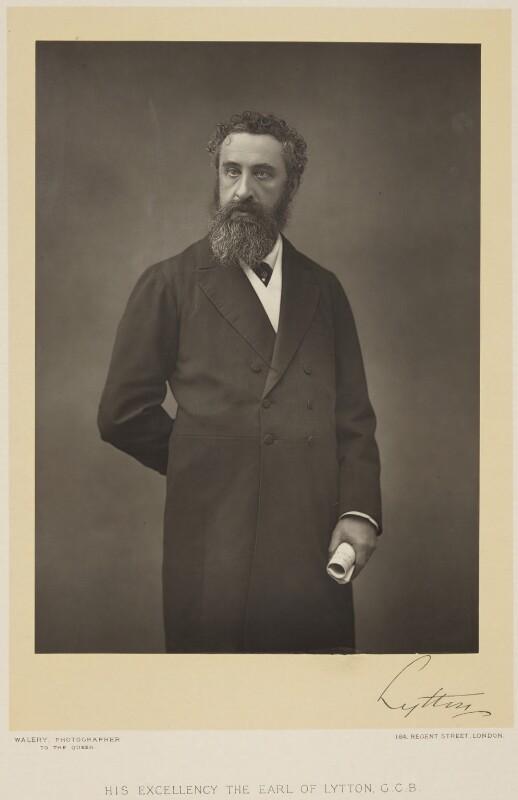 Edward Robert Bulwer-Lytton, 1st Earl of Lytton, by Walery, 1880s - NPG x138125 - © National Portrait Gallery, London