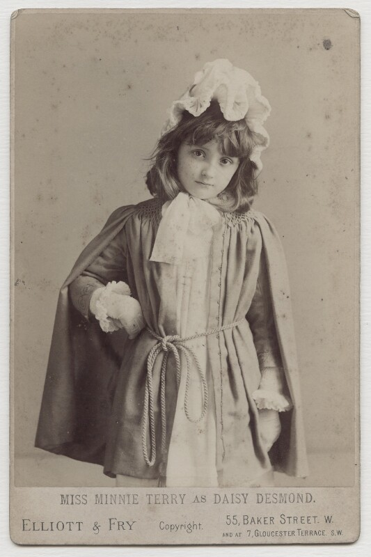 Minnie Terry as Daisy Desmond, by Elliott & Fry, 1889 - NPG x138138 - © National Portrait Gallery, London
