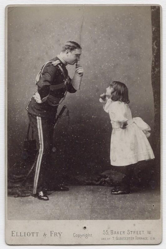 Charles Warlhouse Grimston; Minnie Terry, by Elliott & Fry, circa 1888 - NPG x138139 - © National Portrait Gallery, London