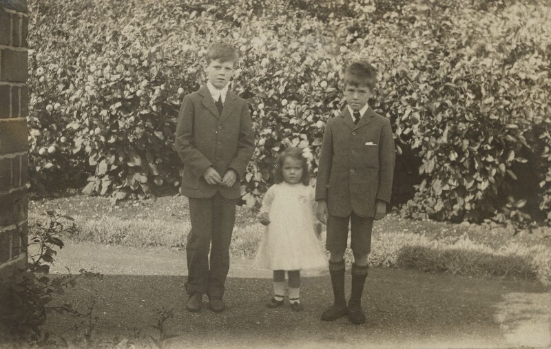 Richard Philip Farquhar Strachey; Ursula Margaret Wentzel (née Strachey); John Strachey, by Unknown photographer, 1912-1913 - NPG Ax160817 - © reserved; collection National Portrait Gallery, London
