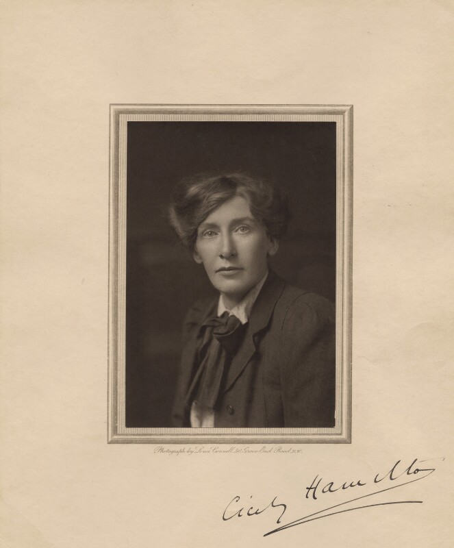 Cicely Mary Hamilton (née Hammill), by Lena Connell (later Beatrice Cundy), 1910s - NPG x17330 - © reserved; collection National Portrait Gallery, London
