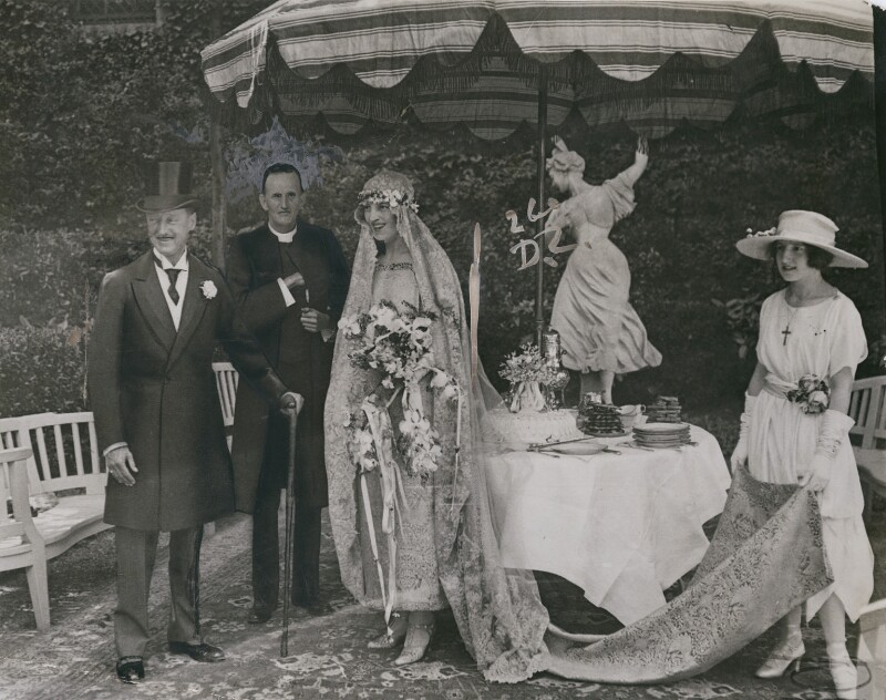 Wedding of 9th Duke of Marlborough and Gladys (née Deacon), Duchess of Marlborough, by Unknown photographer, 1921 - NPG x194008 - © National Portrait Gallery, London