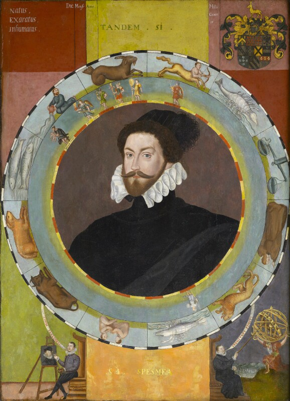 Sir Christopher Hatton, by Unknown English artist, circa 1580 - NPG L256 - © Northampton Museums and Art Gallery