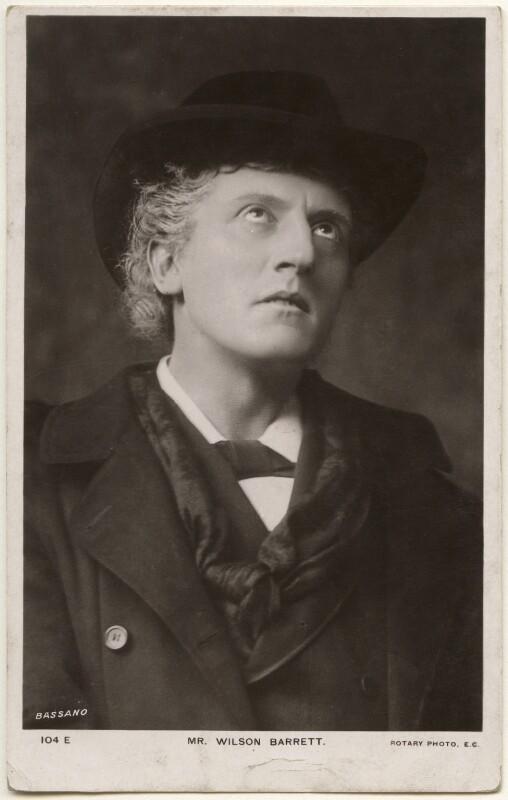 Wilson Barrett (William Henry Barrett), by Bassano Ltd, published by  Rotary Photographic Co Ltd, 1882 - NPG x193621 - © National Portrait Gallery, London