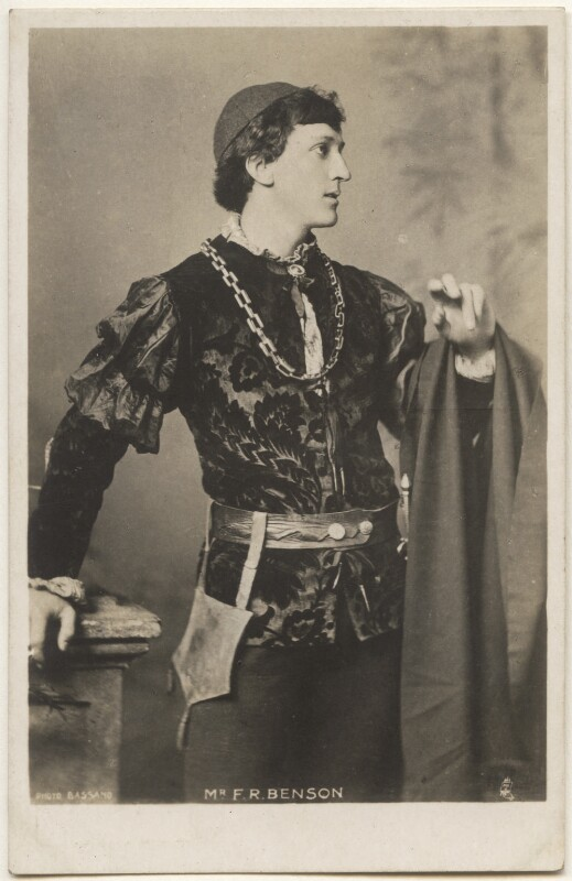 Frank Benson as 'Romeo' in 'Romeo and Juliet', by Bassano Ltd, published by  Raphael Tuck & Sons, 1886 - NPG x193628 - © National Portrait Gallery, London