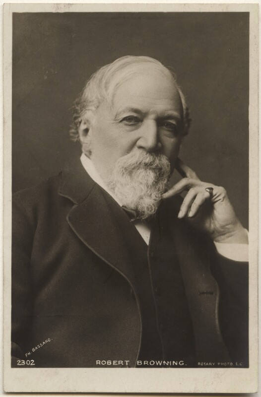 Robert Browning, by Bassano Ltd, published by  Rotary Photographic Co Ltd, 1880s - NPG x193639 - © National Portrait Gallery, London