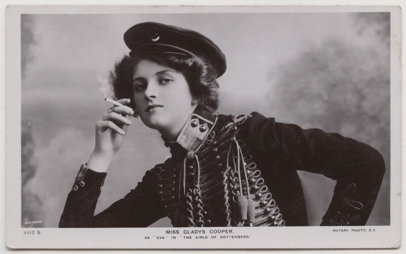 Dame Gladys Cooper as Eva in 'The Girls of Gottenberg', by Bassano Ltd, published by  Rotary Photographic Co Ltd, 1907 - NPG x193697 - © National Portrait Gallery, London