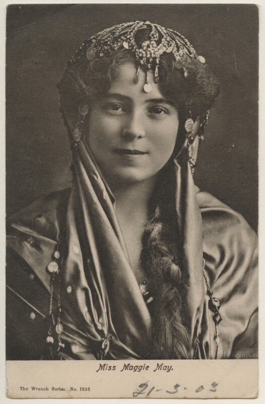 Maggie May as the Indian Princess in 'A Country Girl', by Bassano Ltd, published by  E. Wrench, circa 1902 - NPG x193947 - © National Portrait Gallery, London