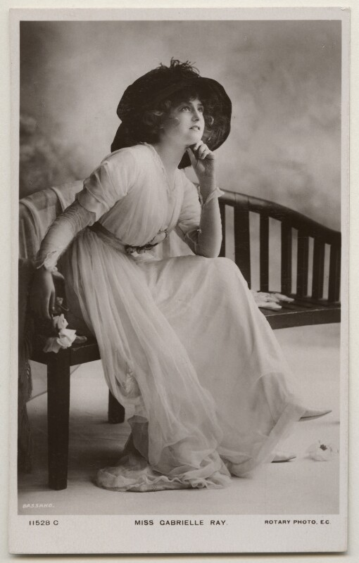Gabrielle Ray, by Bassano Ltd, published by  Rotary Photographic Co Ltd, 1900s - NPG x198006 - © National Portrait Gallery, London