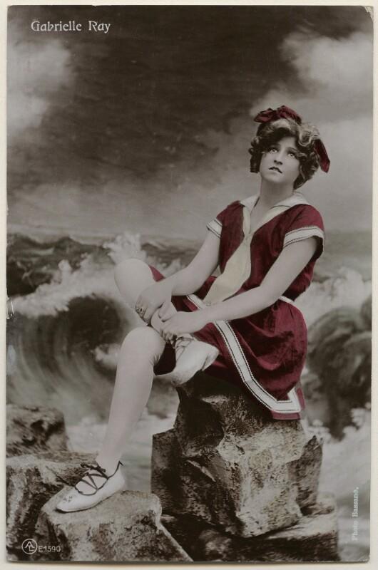 Gabrielle Ray, by Bassano Ltd, published by  Aristophot Co Ltd, 1900s - NPG x198011 - © National Portrait Gallery, London