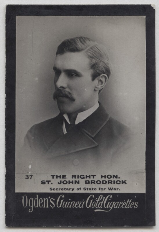 (William) St John Fremantle Brodrick, 1st Earl of Midleton, published by Ogden's, published 1900-1903 - NPG x197003 - © National Portrait Gallery, London