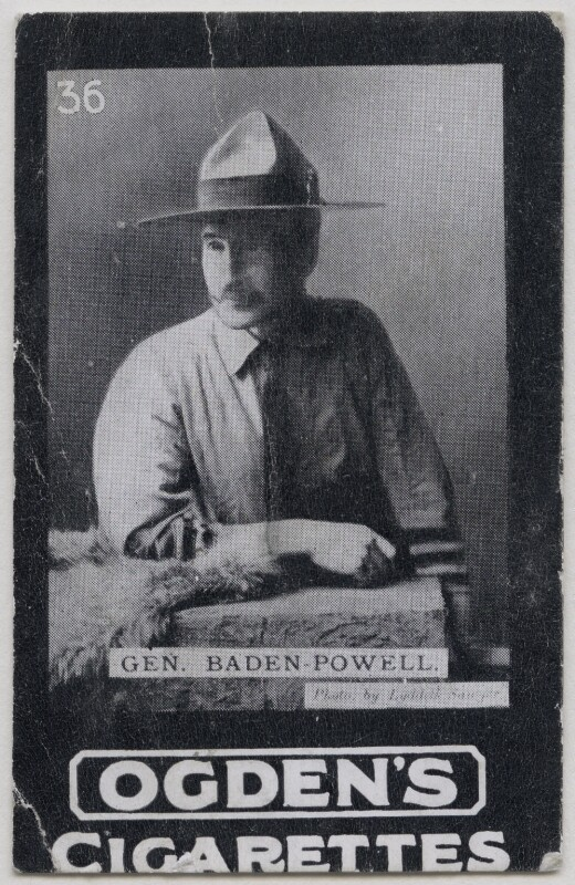 Robert Baden-Powell, by Edward Lyddell Sawyer, published by  Ogden's, published 1900s - NPG x197004 - © National Portrait Gallery, London