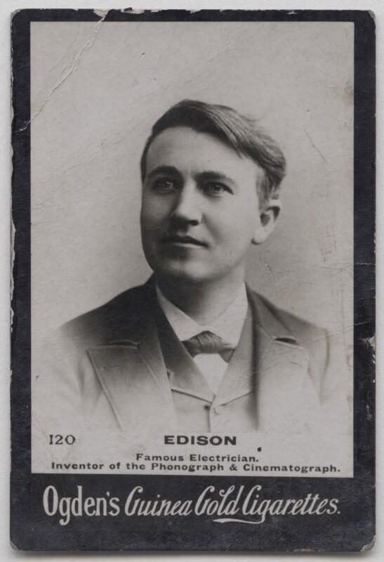 Thomas Alva Edison, published by Ogden's, published circa 1894-1907 - NPG x197007 - © National Portrait Gallery, London