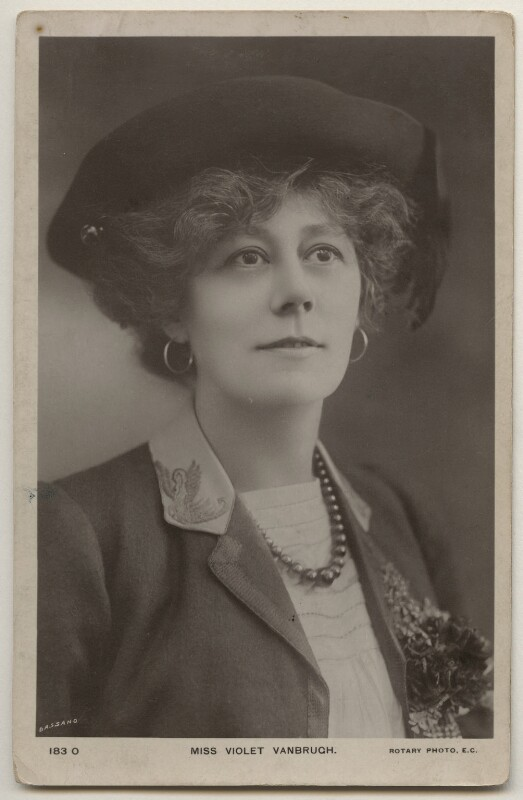 Violet Vanbrugh (Violet Augusta Mary Barnes), by Bassano Ltd, published by  Rotary Photographic Co Ltd, 1900s - NPG x198059 - © National Portrait Gallery, London