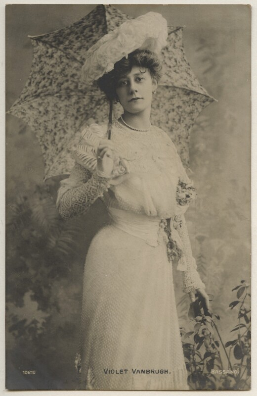 Violet Vanbrugh (Violet Augusta Mary Barnes), by Bassano Ltd, published by  E. Wrench, 1900s - NPG x198061 - © National Portrait Gallery, London