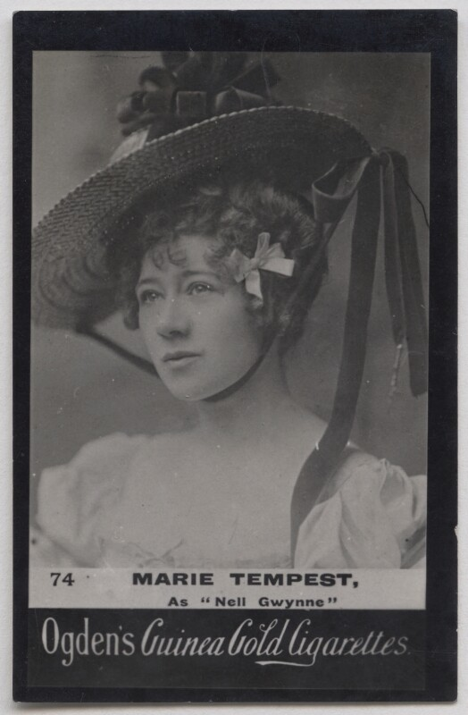 Marie Tempest as Nell Gwynne, published by Ogden's, published circa 1900 - NPG x197026 - © National Portrait Gallery, London