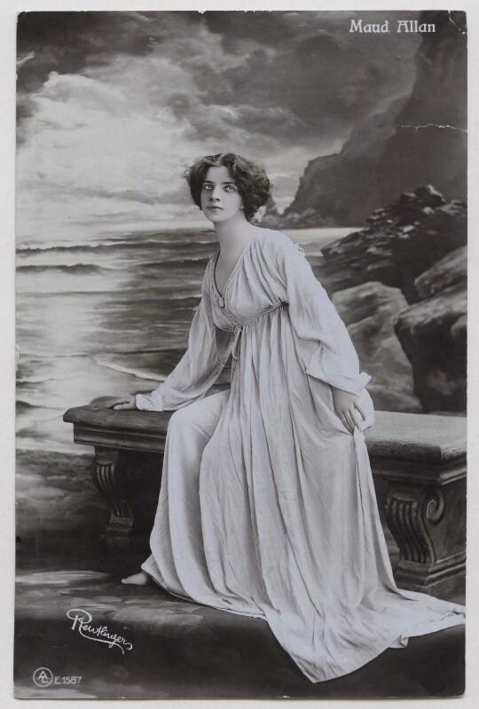 Maud Allan, by Reutlinger, published by  Aristophot Co Ltd, 1900s - NPG x138170 - © National Portrait Gallery, London