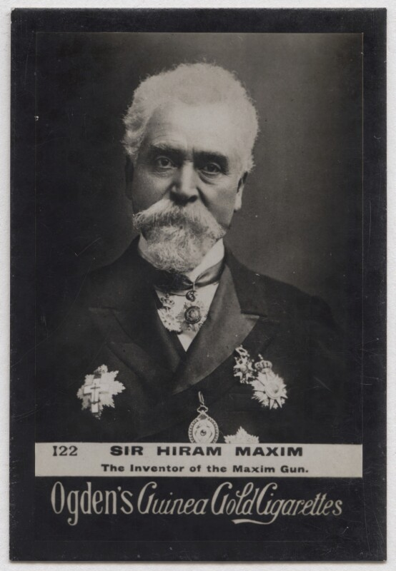 Sir Hiram Stevens Maxim, published by Ogden's, published circa 1894-1907 - NPG x197051 - © National Portrait Gallery, London