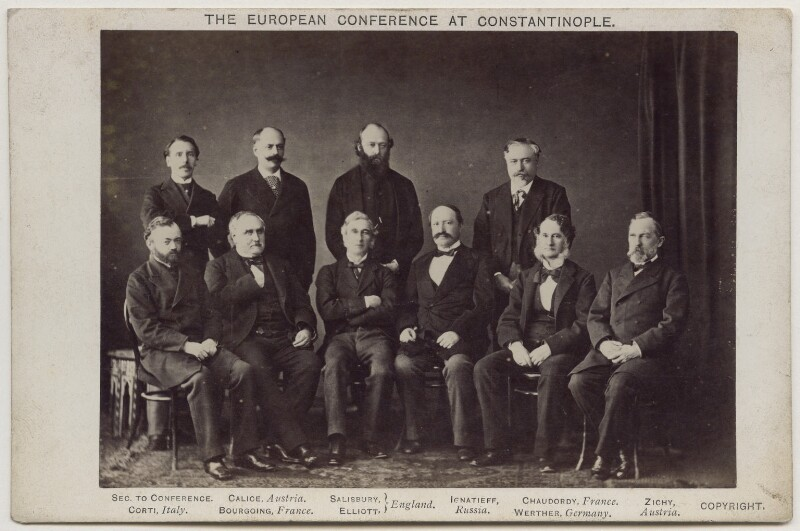 'The European Conference at Constantinople', by George Percival Baker, 1876 - NPG x138237 - © National Portrait Gallery, London