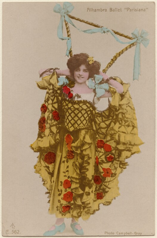 Dancer in a scene from the ballet 'Parisiana', by Campbell-Gray, published by  Aristophot Co Ltd, 1905-1906 - NPG x138240 - © National Portrait Gallery, London