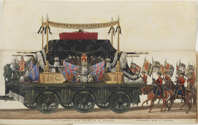 The Funeral Procession of Arthur, Duke of Wellington, by Samuel Henry Gordon Alken, and by  George Augustus Sala, published by  Ackermann & Co, 1 March 1853 - NPG D42981 - © National Portrait Gallery, London