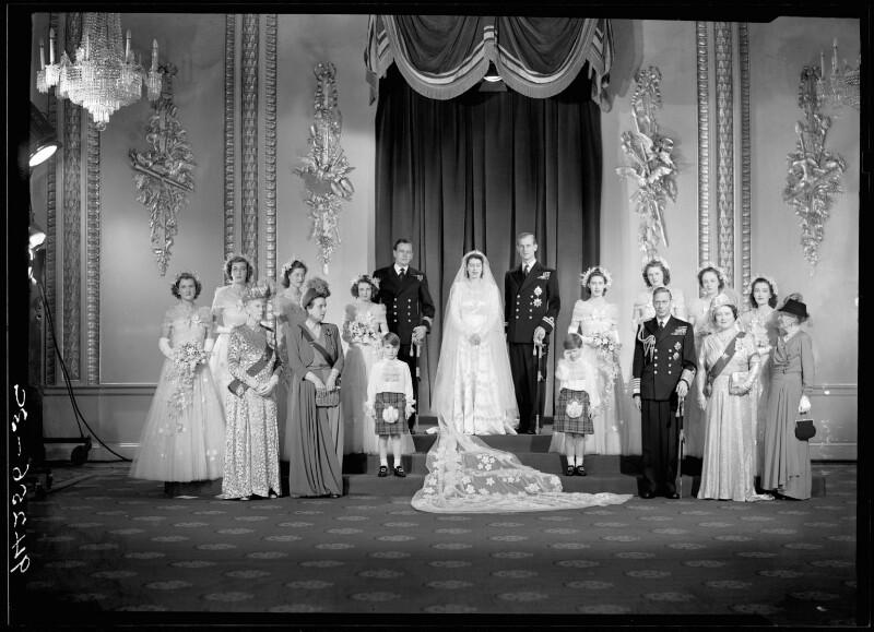 Wedding of Queen Elizabeth II and Prince Philip, Duke of Edinburgh, by Bassano Ltd, 20 November 1947 - NPG x158910 - © National Portrait Gallery, London