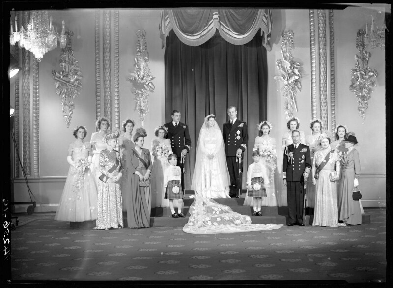 Wedding of Queen Elizabeth II and Prince Philip, Duke of Edinburgh, by Bassano Ltd, 20 November 1947 - NPG x158909 - © National Portrait Gallery, London