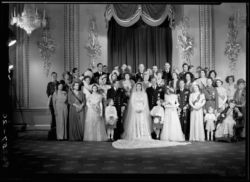 Wedding of Queen Elizabeth II and Prince Philip, Duke of Edinburgh, by Bassano Ltd, 20 November 1947 - NPG x158911 - © National Portrait Gallery, London