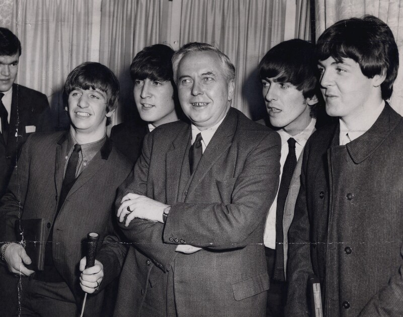 Harold Wilson with 'The Beatles', by Central Press, 19 March 1964 - NPG x194205 - © Getty Images