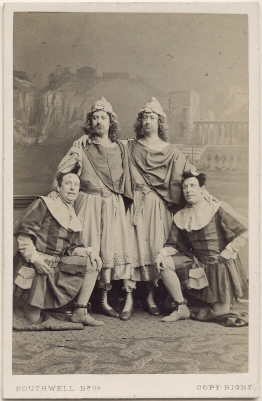 The Webb Brothers, John Nelson and George James Vining in 'The Comedy of Errors', by Southwell Brothers, 1864 - NPG x138801 - © National Portrait Gallery, London