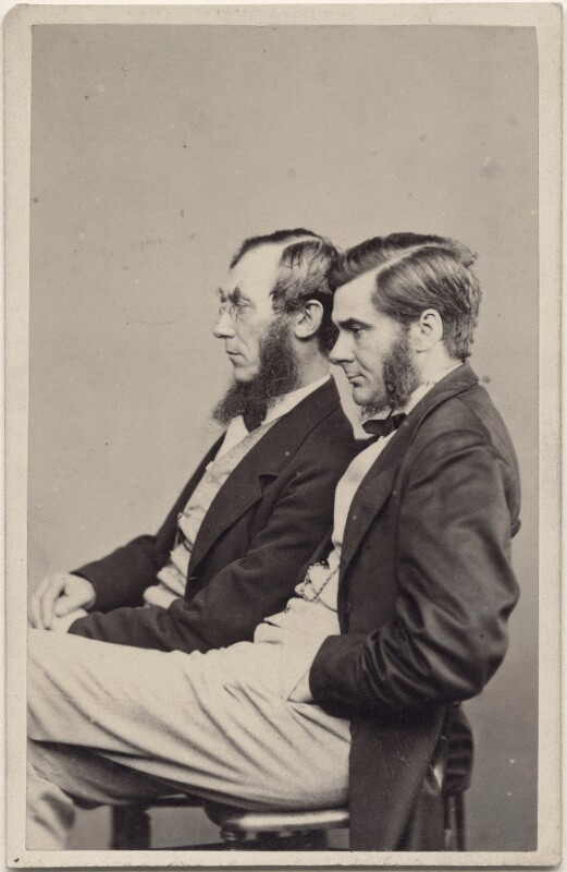 Sir Joseph Dalton Hooker; Thomas Henry Huxley, by Henry Joseph Whitlock, 1860s - NPG x138802 - © National Portrait Gallery, London