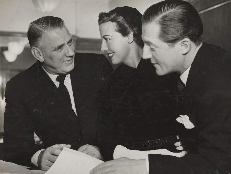 Val Parnell; Adele Dixon; Sir Hardy Amies, by Unknown photographer, 1953 - NPG x194209 - © reserved; National Portrait Gallery, London