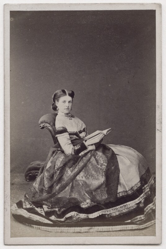 Hariot Georgina (née Rowan-Hamilton), Marchioness of Dufferin and Ava, by Lock & Whitfield, 1860s - NPG x197103 - © National Portrait Gallery, London