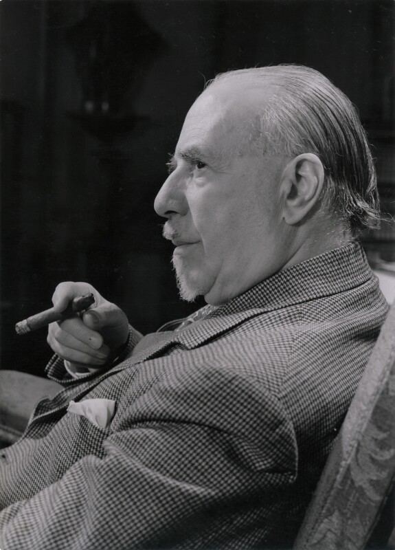 Sir Thomas Beecham, 2nd Bt, by Derek Allen, for  Camera Press: London: UK, 1940s - NPG x194228 - © Derek Allen / National Portrait Gallery, London