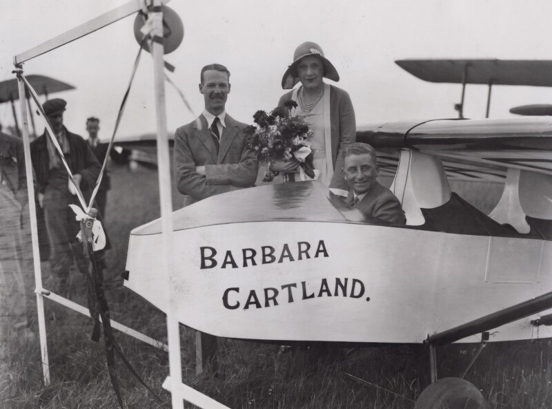 Ewen Ormerod Wanliss; Dame Barbara Hamilton Cartland; Edward Lucas Mole, by Topical Press, 15 June 1931 - NPG x194244 - © National Portrait Gallery, London