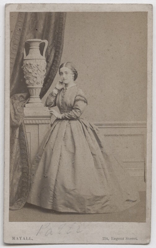 Adelina Patti, by Mayall, circa 1862 - NPG x197142 - © National Portrait Gallery, London
