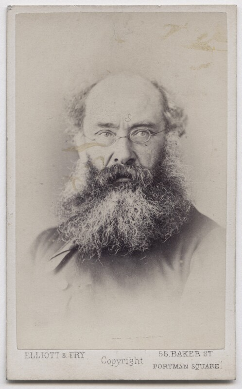 Anthony Trollope, by Elliott & Fry, late 1860s - NPG x197174 - © National Portrait Gallery, London