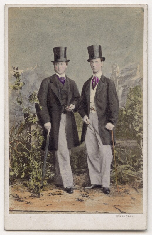 King Edward VII; George I, King of Greece, by Southwell Brothers, October 1863 - NPG x197202 - © National Portrait Gallery, London