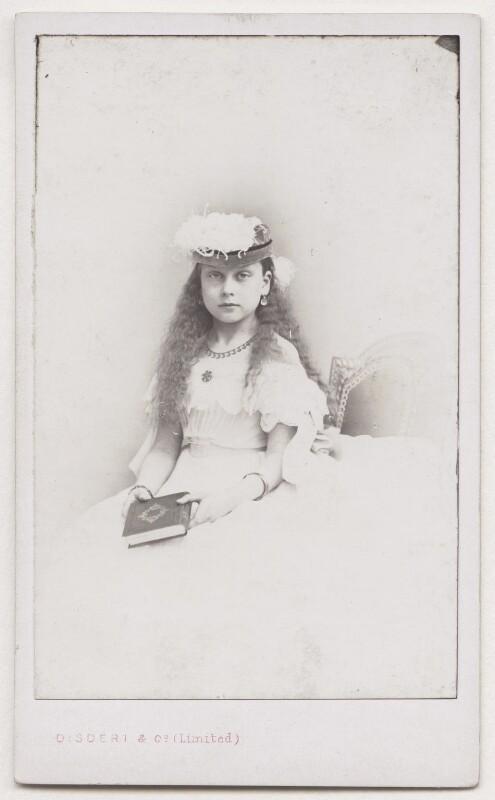 Princess Beatrice of Battenberg, by Disdéri, November 1866 - NPG x197213 - © National Portrait Gallery, London