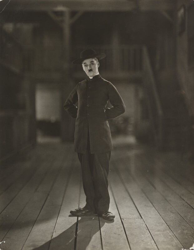 Npg X138888 Charlie Chaplin On Set For The Pilgrim Portrait