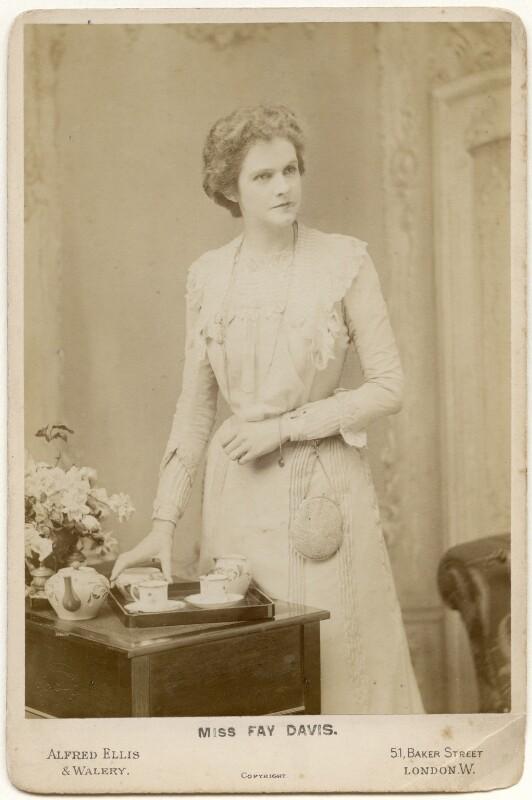 Fay Davis, by Alexander Corbett, for  Alfred Ellis & Walery, 1900 - NPG x197290 - © National Portrait Gallery, London