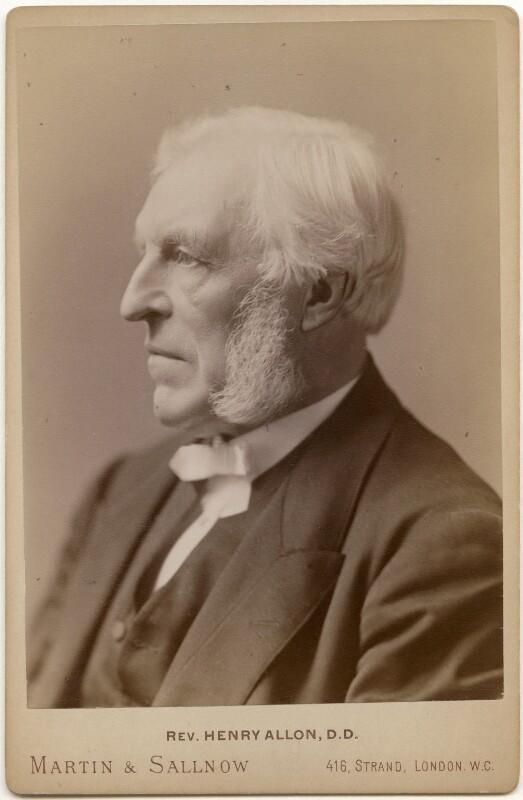 Henry Allon, by Martin & Sallnow, 1884-1892 - NPG x138928 - © National Portrait Gallery, London