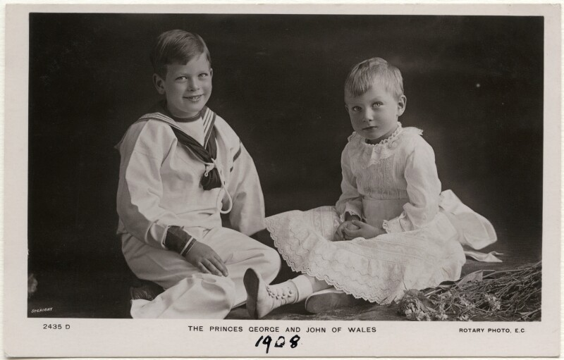 Prince George, Duke of Kent; Prince John, by Speaight Ltd, published by  Rotary Photographic Co Ltd, 1908 - NPG x138941 - © National Portrait Gallery, London
