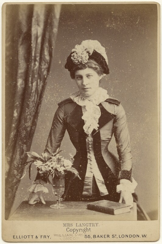 Lillie Langtry, by Elliott & Fry, 1880s - NPG x197324 - © National Portrait Gallery, London