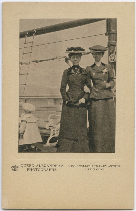 Olav V, King of Norway; Hon. (Elizabeth) Charlotte Knollys; Louisa Jane (née Grey), Countess of Antrim, by Queen Alexandra, published by  A.V.N. Jones & Co, published circa 1908 (1905) - NPG x197334 - © National Portrait Gallery, London