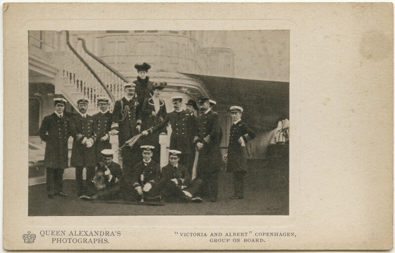 Group on board HMY Victoria and Albert, Copenhagen, by Queen Alexandra, published by  A.V.N. Jones & Co, published circa 1908 - NPG x197340 - © National Portrait Gallery, London