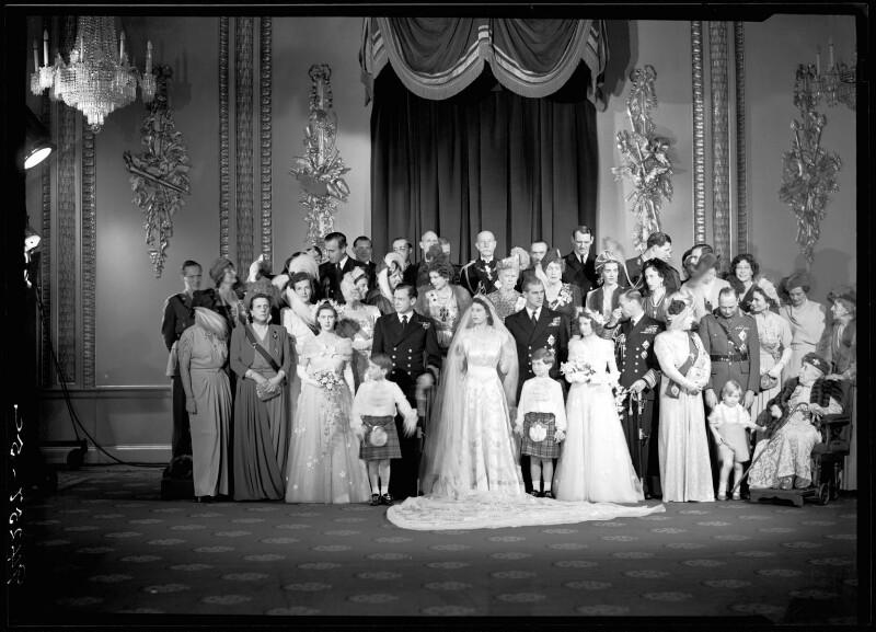 Wedding of Queen Elizabeth II and Prince Philip, Duke of Edinburgh, by Bassano Ltd, 20 November 1947 - NPG x158994 - © National Portrait Gallery, London