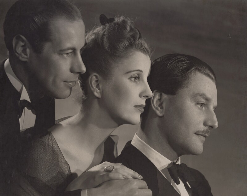Rex Harrison; Diana Wynyard; Anton Walbrook, by Angus McBean, 1939 - NPG x194340 - Angus McBean Photograph. © Harvard Theatre Collection, Harvard University.